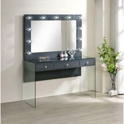 Clear Top Black Vanity Hollywood Style Makeup Drawers for Sale in Anaheim,  CA