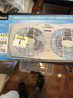 Holmes Twin Window Fan for Sale in Orlando, FL