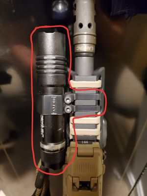 Streamlight Protac 1L-1AA with Proctor light mount for Sale in Lansdowne, VA