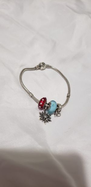 Pandora bracelet with 4 charms for Sale in Kissimmee, FL