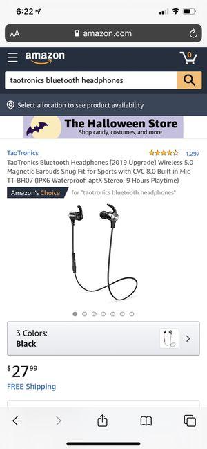 Taotronics Bluetooth headphones for Sale in Brooklyn, NY