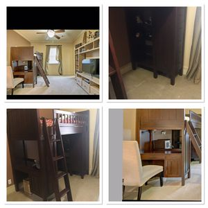 Pottery Barn Loft Bed & Chair- for Sale in Tulsa, OK