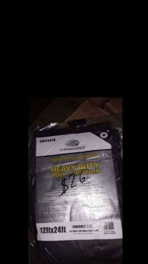 Gray Heavy Duty Tarp 12x24 $26 for Sale in Fontana, CA