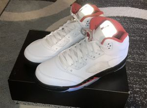 New Jordan retro 5 fire red size 7 GS for Sale in Evesham Township, NJ
