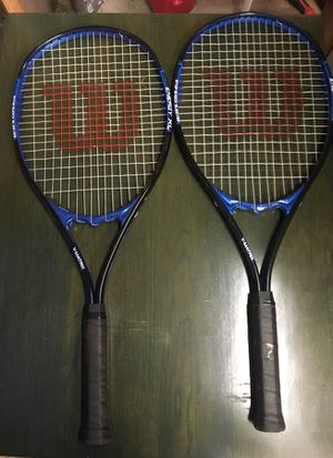 2 Wilson energy xl tennis rackets. for Sale in Portland, OR