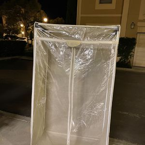 Portable Wardrobe Clothes Storage Organized Closet With Hanging Rack for Sale in Irvine, CA