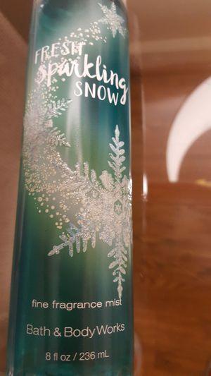 Fresh sparkling snow bath and bodyworks mist. Never used. for Sale in Alexandria, VA