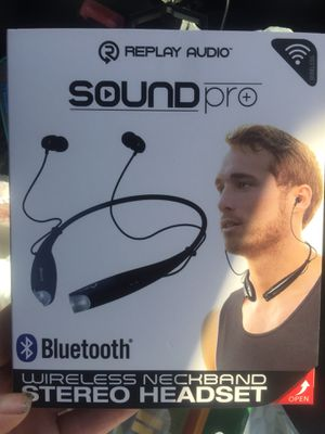 Brand new replay audio sound pro Bluetooth wireless neckband stereo headset for Sale in Jacksonville, FL