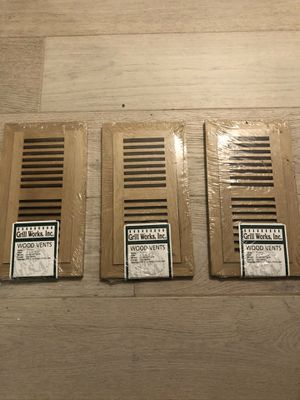 (3) Unfinished Wood Floor Vents. Brand New for Sale in Downers Grove, IL