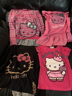 4 hello kitty shirts size 6 for Sale in San Diego, CA