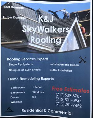 K&J Skywalkers Roofing for Sale in Sioux City, IA