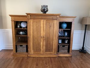 All wood media center/entertainment center for Sale in Willowbrook, IL