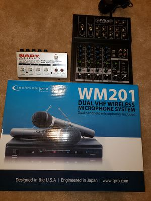 WIRELESS MICROPHONE & MIXERS for Sale in Stafford, VA