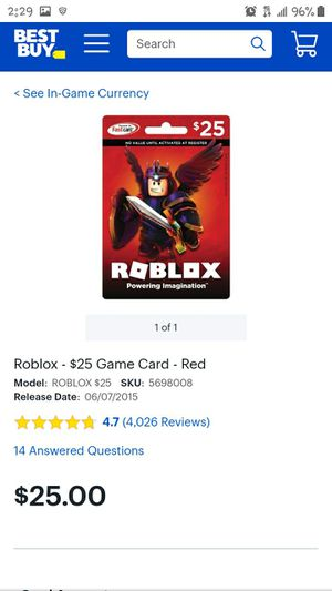 $25 Roblox game card for $20cash NEW for Sale in Phoenix, AZ