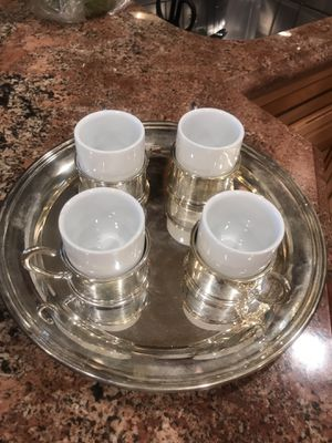 set of 4 turkish coffee cups for Sale in Calabasas, CA