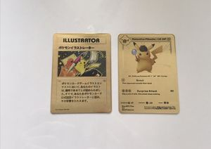 2x Pikachu Gold Metal Pokemon Cards for Sale in West Palm Beach, FL