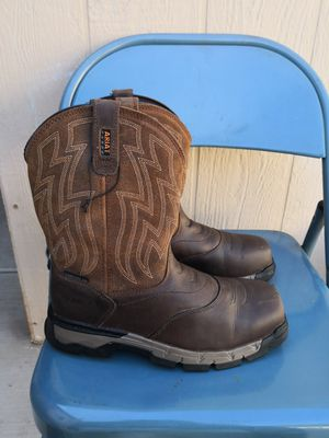 Ariat composite toe work boots size 8.5EE for Sale in Riverside, CA