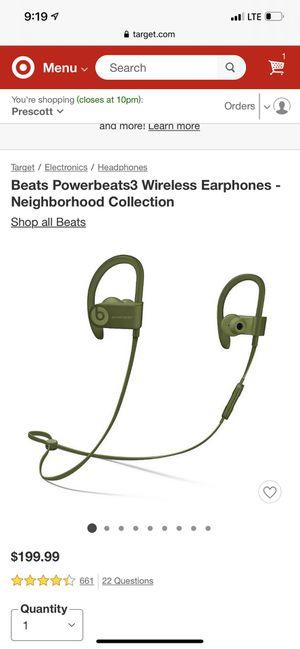 Green Beats- PowerBeats 3 wireless for Sale in Phoenix, AZ