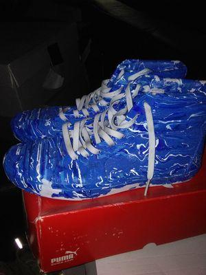 CUSTOM PAINTED VAN SKATEBOARD SNEAKERS/ SIZE 11 for Sale in Atlanta, GA
