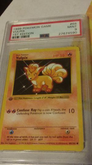 Vulpix PSA 9 Pokemon shadowless error for Sale in Fresno, CA