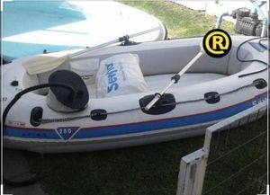 $40 Sevylor inflatable boat with oars and pump for Sale in Portland, OR