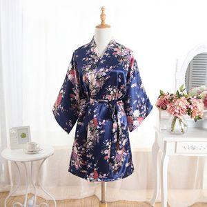 7 Satin Navy Nightgown Kimono Robes for Sale in Herndon, VA
