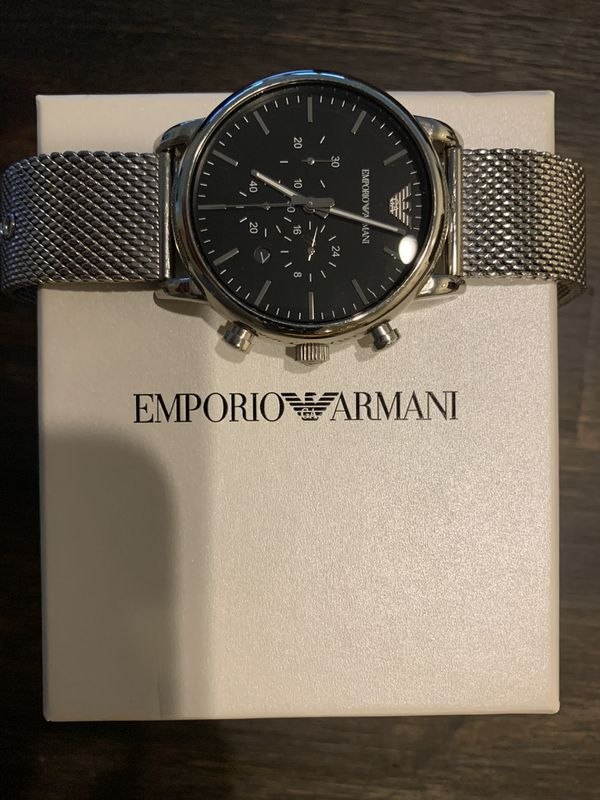 Emporio Armani Steel Mesh Band Watch