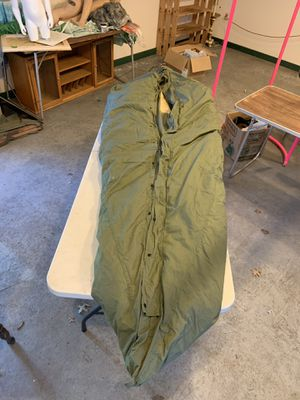 1949 military cocoon down filled sleeping bag, West York, smells like camp fire! for Sale in Thomasville, PA