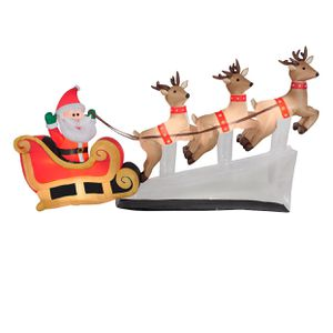 Gemmy Industries Yard Inflatable Floating Santa Sleigh with Reindeer - 6ft for Sale in South El Monte, CA