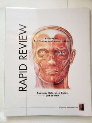 Anatomy Reference guide for memorization and studying for Sale in Glendale, AZ
