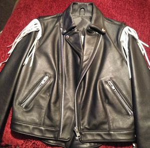 A poor boy leather women's motorcycle jacket for Sale in Watauga, TX
