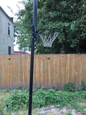 Basketball poll with net. Base included for Sale in Queens, NY