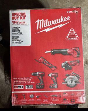 Milwaukee M18 six tool combo kit model 2697- 26 for Sale in Grafton, MA