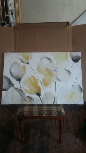 """New artissimo neutral abstract floral 2 canvas wall art,24""""×36"""" for Sale in Buffalo, NY"""