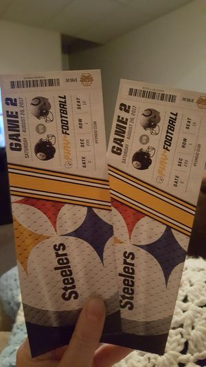 Steeler tickets for tonight's game for Sale in Midway, PA