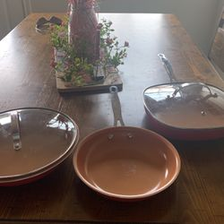 Gotham Steel Frying Pans Set Of 3 for Sale in Leander,  TX