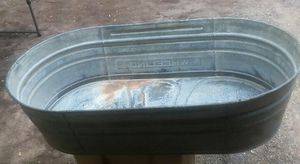 Vintage Wheeling Galvanized Wash Tub With Handles for Sale in Gilmer, TX
