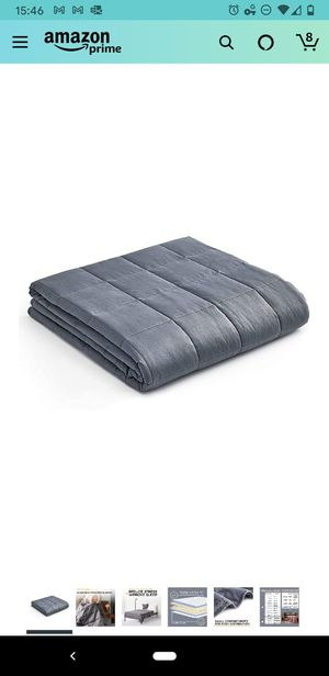 Weighted blanket with cover, 15lb, used once for Sale in Palo Alto, CA
