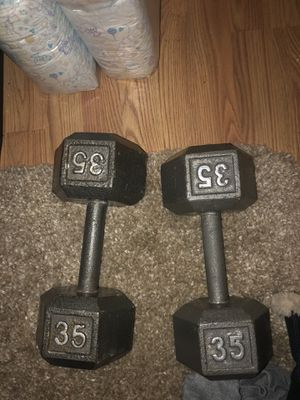 Dumbbells 35 pounds for Sale in Tacoma, WA