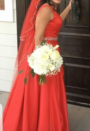 Wedding dress red dress quinceanera for Sale in Fountain Hills, AZ