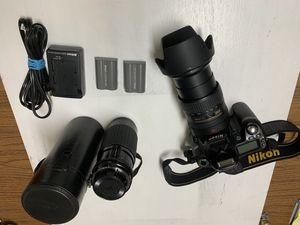 NIKON D80 DIGITAL CAMERA with AF-S NIKOR. VR LENS 18-200mm for Sale in Sunnyvale, CA