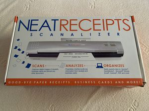 Neatreceipts Scanalizer it Scans Analyzes and Organizes BRAND NEW for Sale in Port Richey, FL