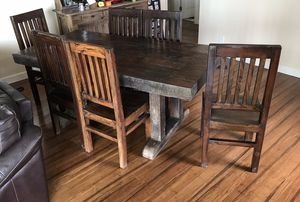 Reclaimed Farmhouse Railroad Tie Kitchen Table for Sale in San Diego, CA