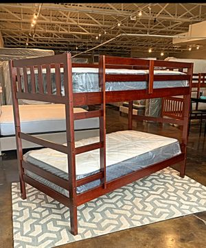 BRAND NEW TWIN BUNK BED AND MATTRESS (FREE DELIVERY) for Sale in Fort Worth, TX