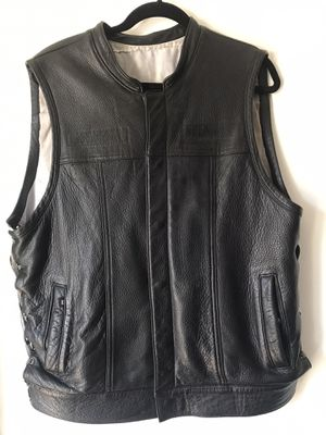 Men's Espinoza leather Deer Skin Vest for Sale in Fontana, CA
