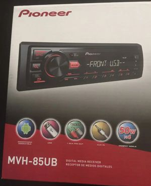 Pioneer MVH85UB Single DIN in-dash AM/FM/digital media car stereo receiver (no CD Player) for Sale in Gardena, CA
