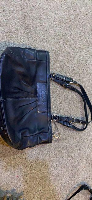 Coach black leather handbag purse for Sale in Minneapolis, MN