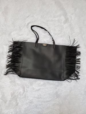 VICTORIA'S SECRET BLACK FRINGE TOTE for Sale in Taunton, MA