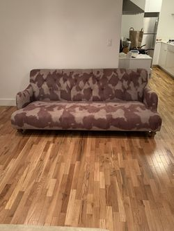 Brown and Olive Green Couch - Suede for Sale in Los Angeles,  CA