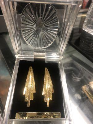 Diamond dust earrings for Sale in Baltimore, MD
